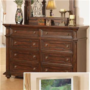 Pinewood International Coronado  Dresser with 8 Drawers
