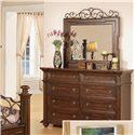 Pinewood International Coronado  Dresser with 8 Drawers - Shown with Mirror