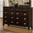 Pinewood International Marquis  Dresser with 8 Drawers
