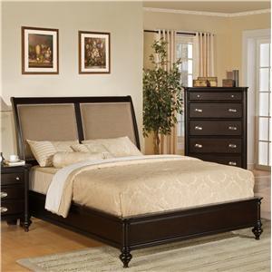Pinewood International Marquis  King Sleigh Headboard Bed