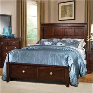 Pinewood International Park Place  Queen Platform Bed with Footboard Storage