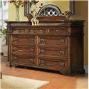 Pinewood International Wellington  Delicate Nine Drawer Dresser for Elegant Master Bedrooms