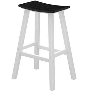 "Polywood Contempo Collection 30"" Saddle Bar Stool"