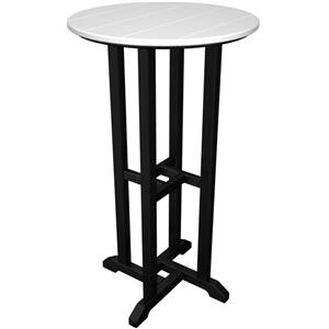 "Polywood Contempo Collection 24"" Round Bar Table"
