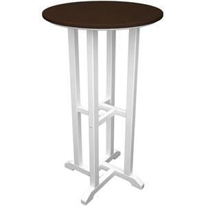 "Polywood Contempo Collection 24"" Round Bar Table"