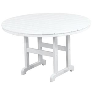 La Casa Cafe Round Dining Table with Slat Design by Polywood