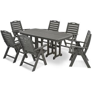Polywood Nautical Dining Table and Chair Set