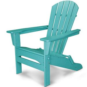 Polywood Palm Coast Folding Adirondack Chair