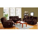 Porter International Designs Ramsey Casual Power Dual Reclining Sofa with Pillowtop Arms - Recliner Shown May Not Represent Exact Features Indicated