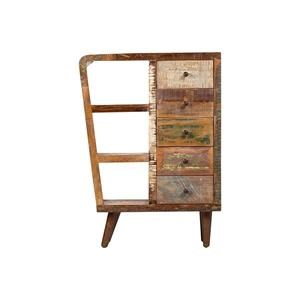 Media Chest with Drawers and Iron Legs