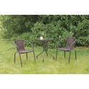 Poundex 101 Outdoor Bistro Set - Item Number: P50211+2xP50111