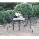 Poundex 182 Outdoor Bistro Set - Item Number: P50216+4xP50108