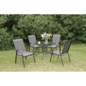 Poundex 205 Outdoor Dining Set - Item Number: P50213+4xP50114
