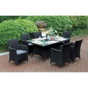 Poundex 218 Outdoor Dining Set - Item Number: P50269+6xP50131