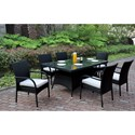 Poundex 218 Outdoor Dining Set - Item Number: P50269+6xP50161