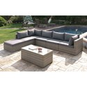 Poundex 412 Outdoor Sectional Group - Item Number: P50151+2xP05141+3x43+45
