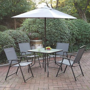 Poundex Outdoor Six Piece Outdoor Dining Set