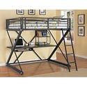 Powell Z Bedroom Full Loft Bed - Item Number: 354117