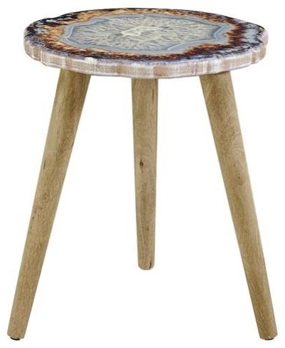 Faux Agate End Table by Powell at HomeWorld Furniture
