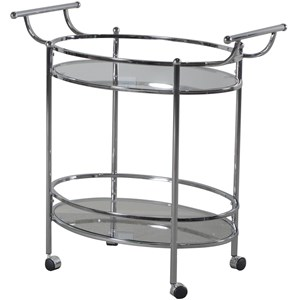 Powell Accent Furniture Chrome Service Cart