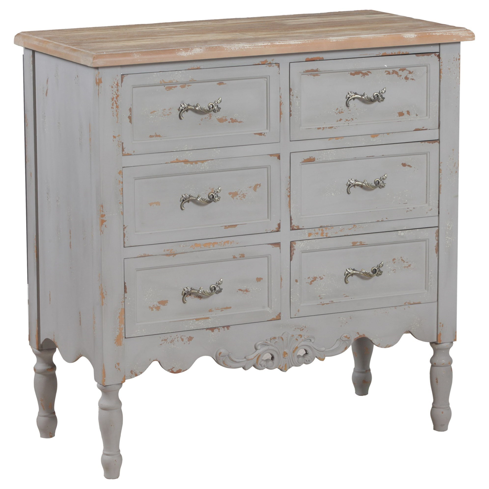 Accent Furniture Piper Grey Hall Chest by Powell at Nassau Furniture and Mattress