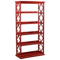 Powell Accent Furniture Turner Bookcase Red - Item Number: 14A8082BCR
