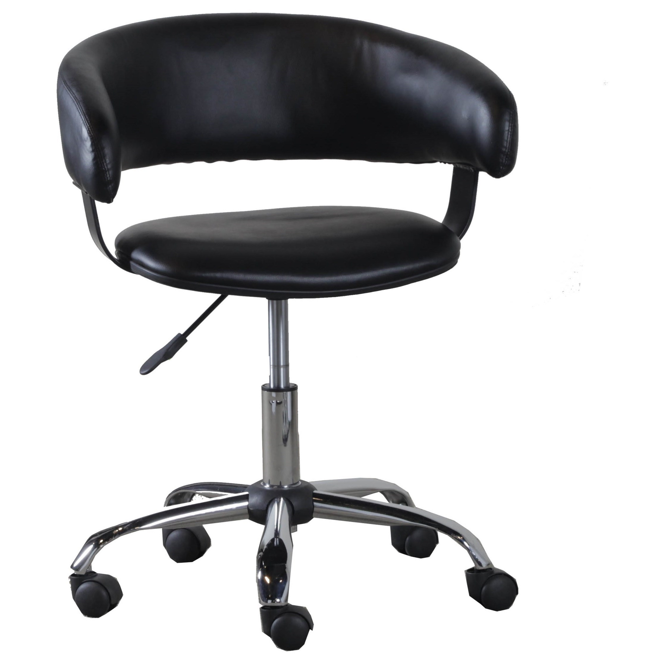 Accent Furniture Black Gas Lift Desk Chair by Powell at Goffena Furniture & Mattress Center