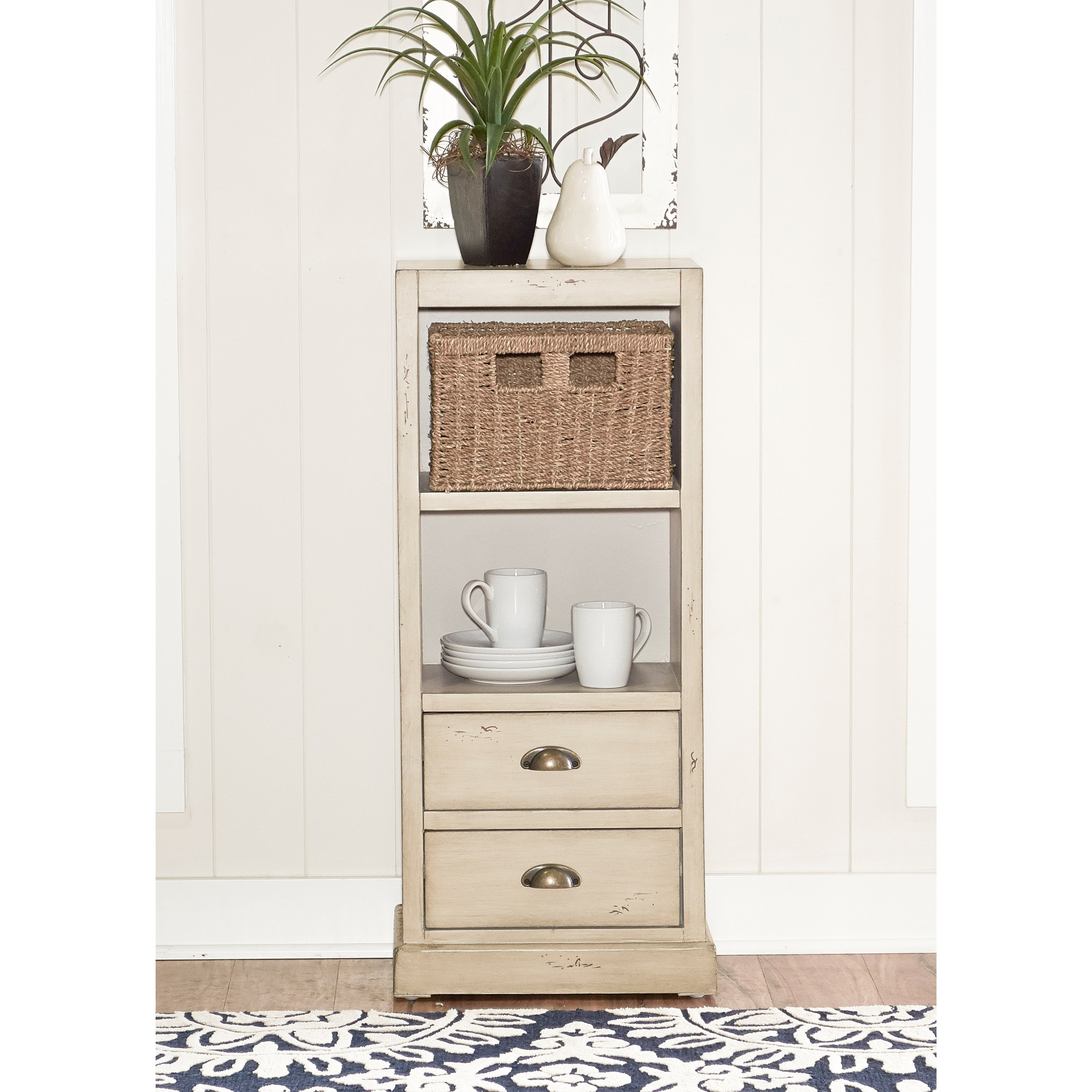 Powell Accent Furniture Currituck 1-Basket Console - Item Number: 15A2064SM