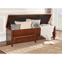 Powell Accent Furniture Brody Padded Top Storage Bench