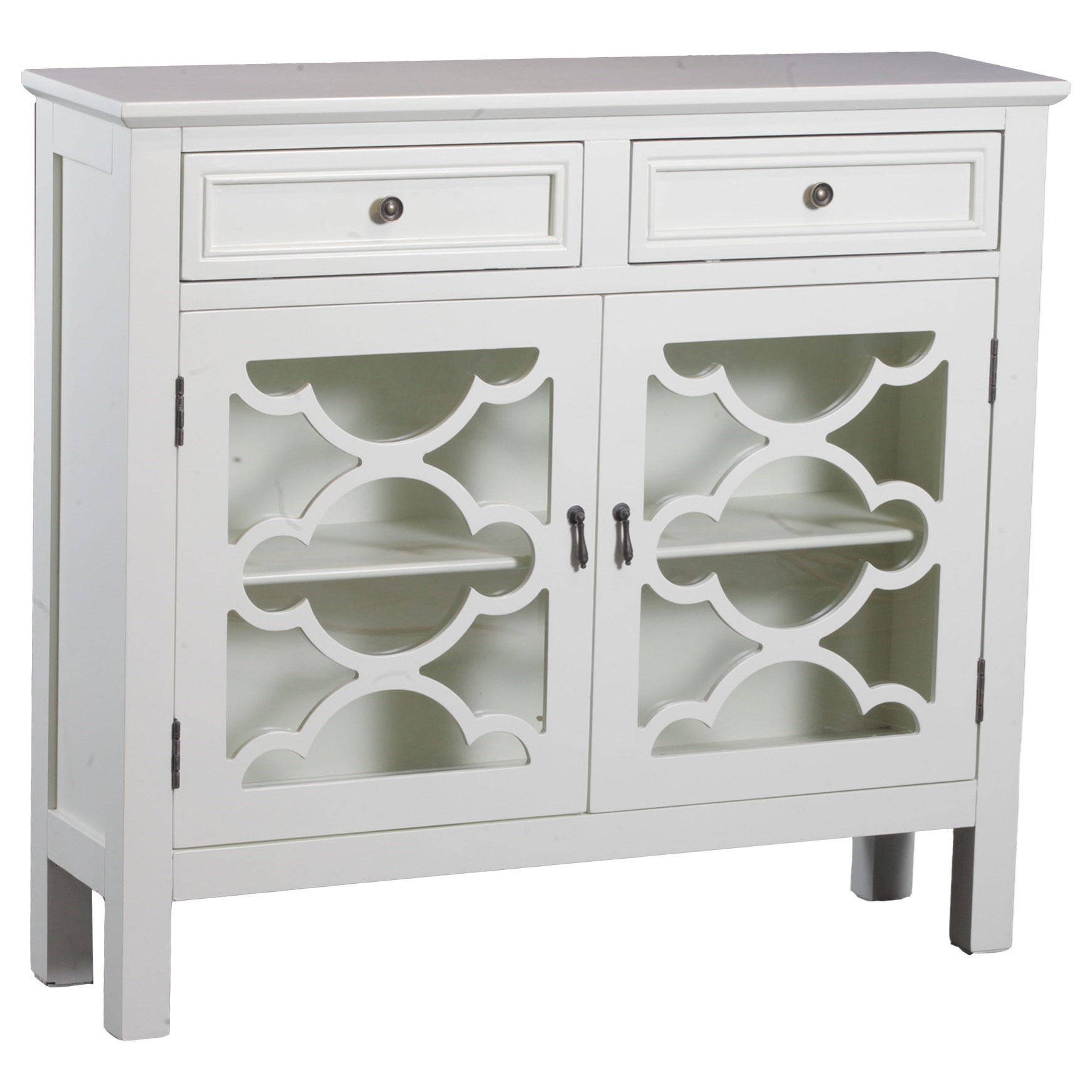 Powell Accent Furniture  Canady White Slimline Console  - Item Number: 15A8186W