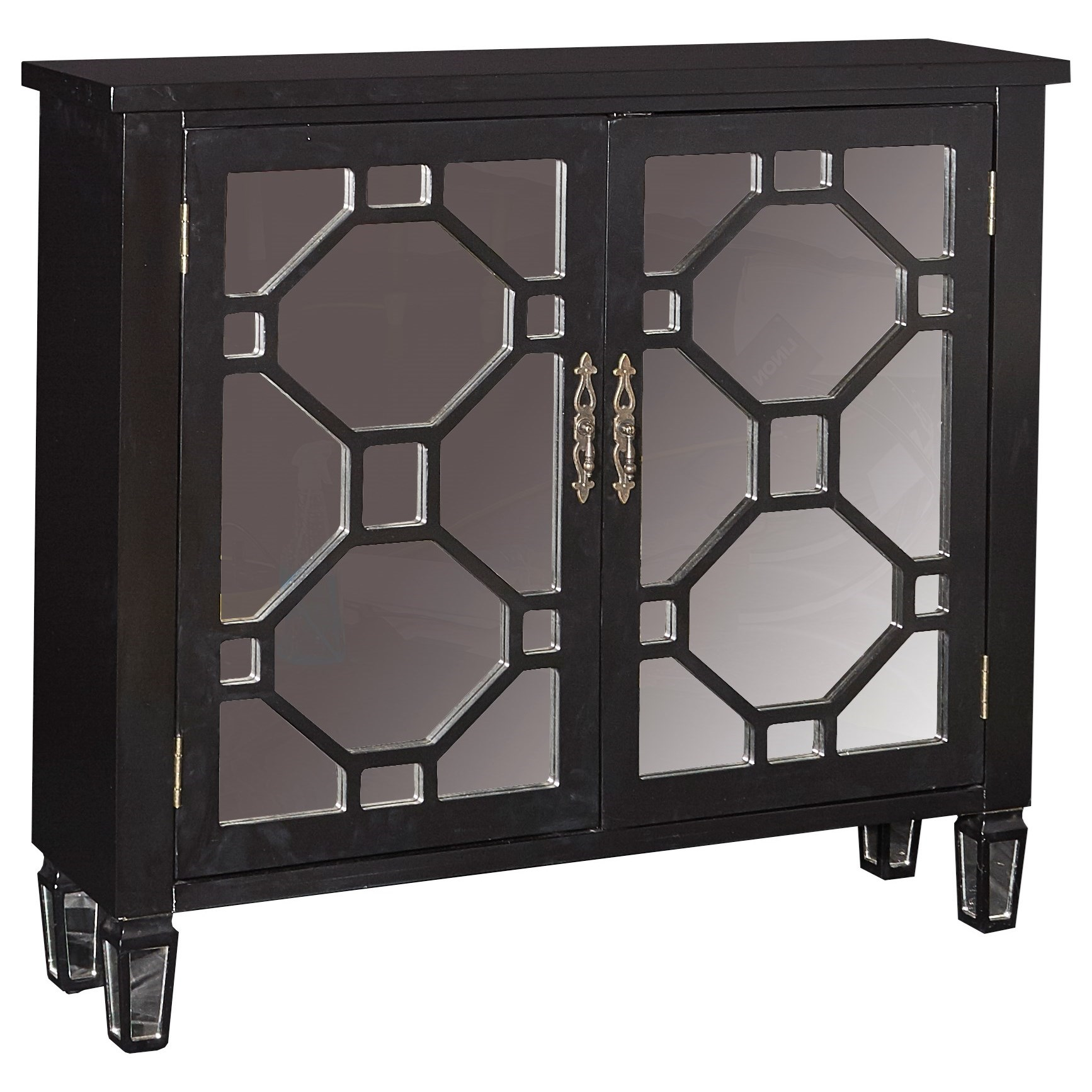 Powell Accent Furniture Hex 2 Door Console - Item Number: 16A2040BL