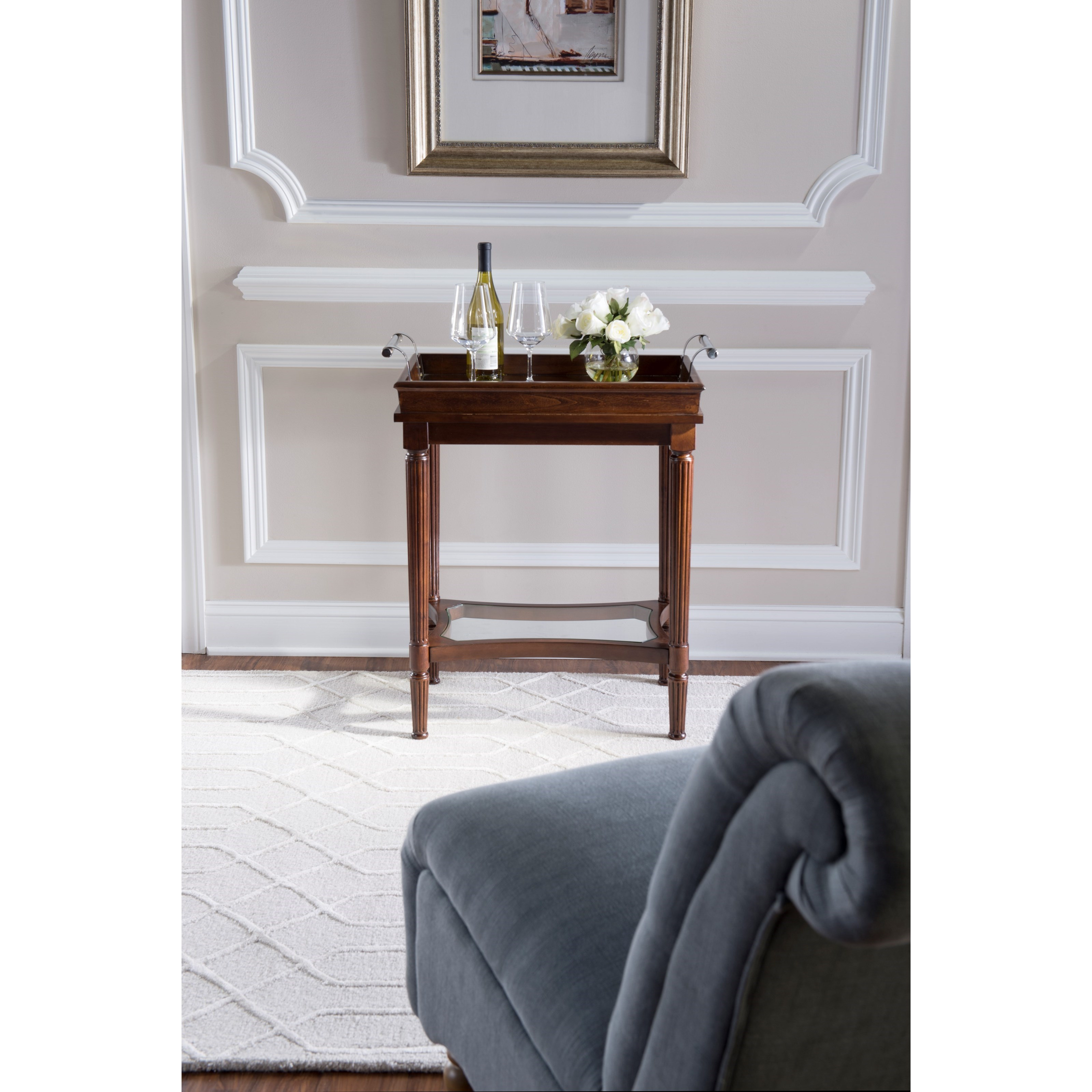 Powell Accent Furniture Masterpiece Mia Cherry Serving Tray Table - Item Number: 16A8223STC