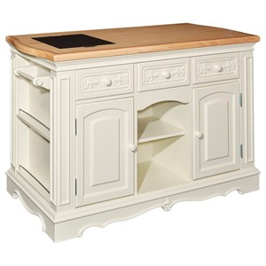 Powell Accent Furniture Pennfield White Kitchen Island