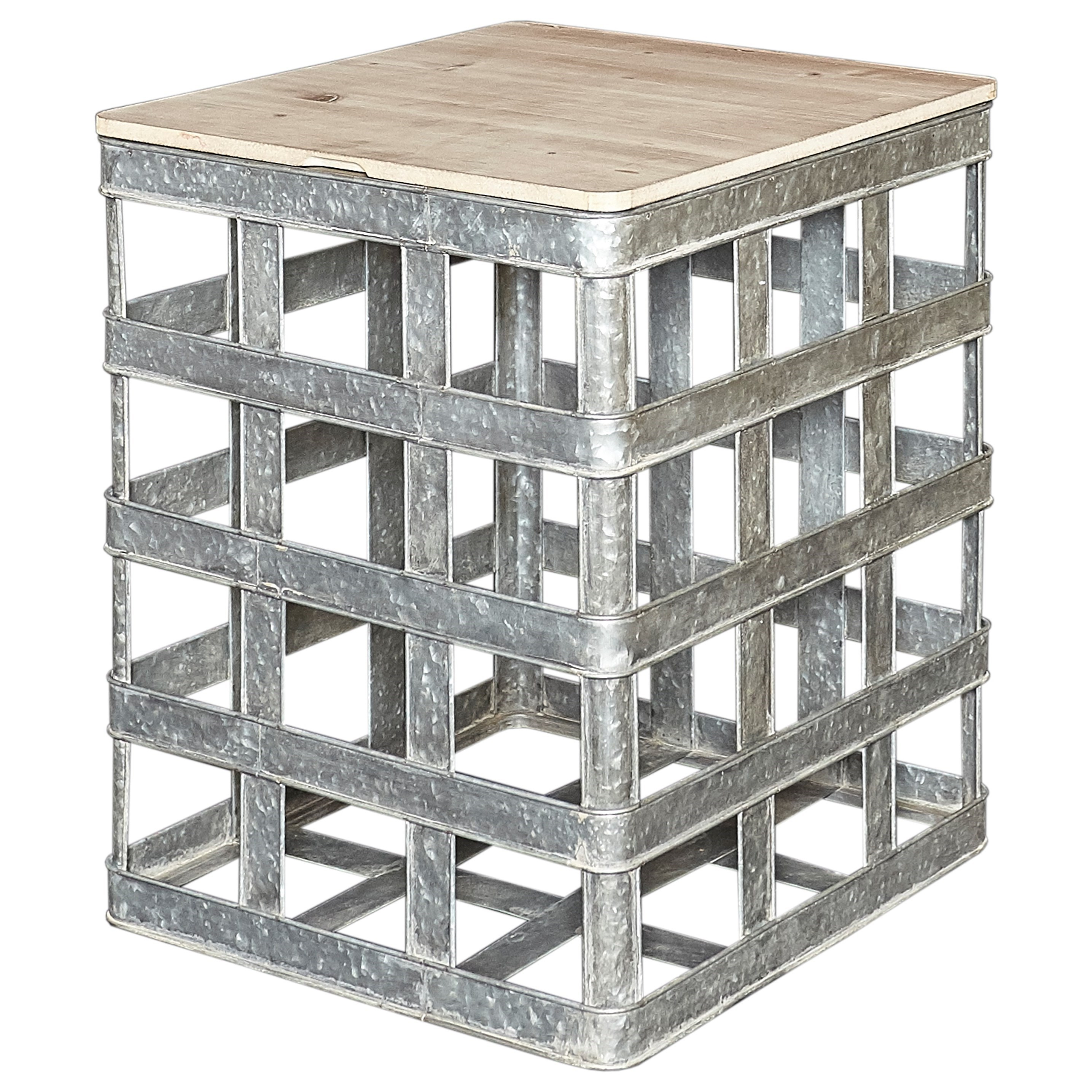 Accent Furniture Jayce Galvanized Side Table by Powell at Nassau Furniture and Mattress