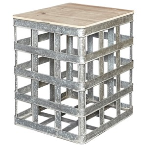 Powell Accent Furniture Jayce Galvanized Side Table