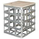 Powell Accent Furniture Jayce Galvanized Side Table - Item Number: D1036A16