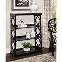 Powell Accent Furniture Conrad Medium Bookcase Black - Item Number: D1085A17B