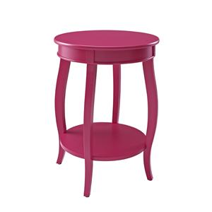 Powell Accent Tables Round Table w/ Shelf