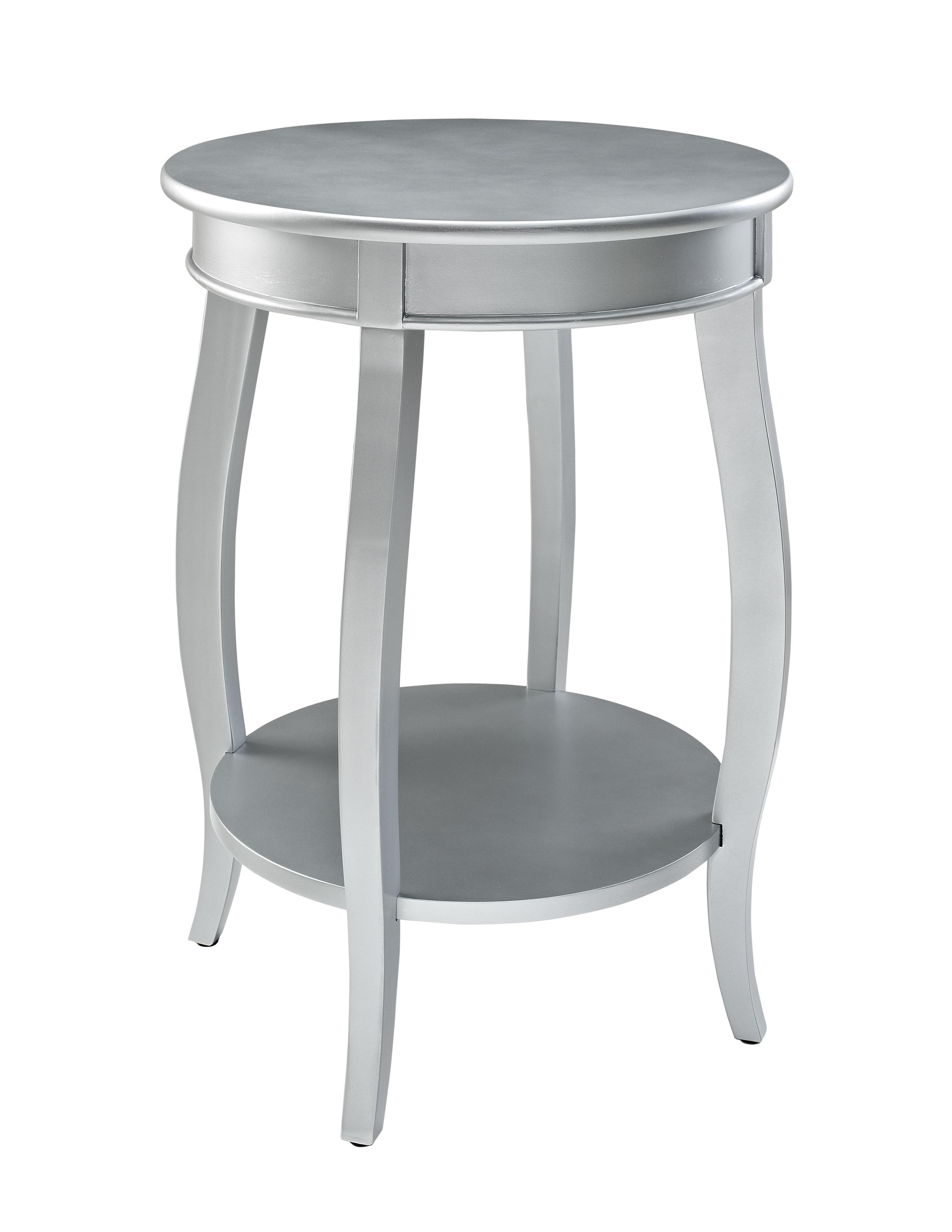Powell Accent Tables Round Table w/ Shelf - Item Number: 145-350