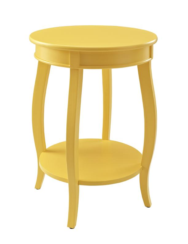Powell Accent Tables Round Table w/ Shelf - Item Number: 256-350