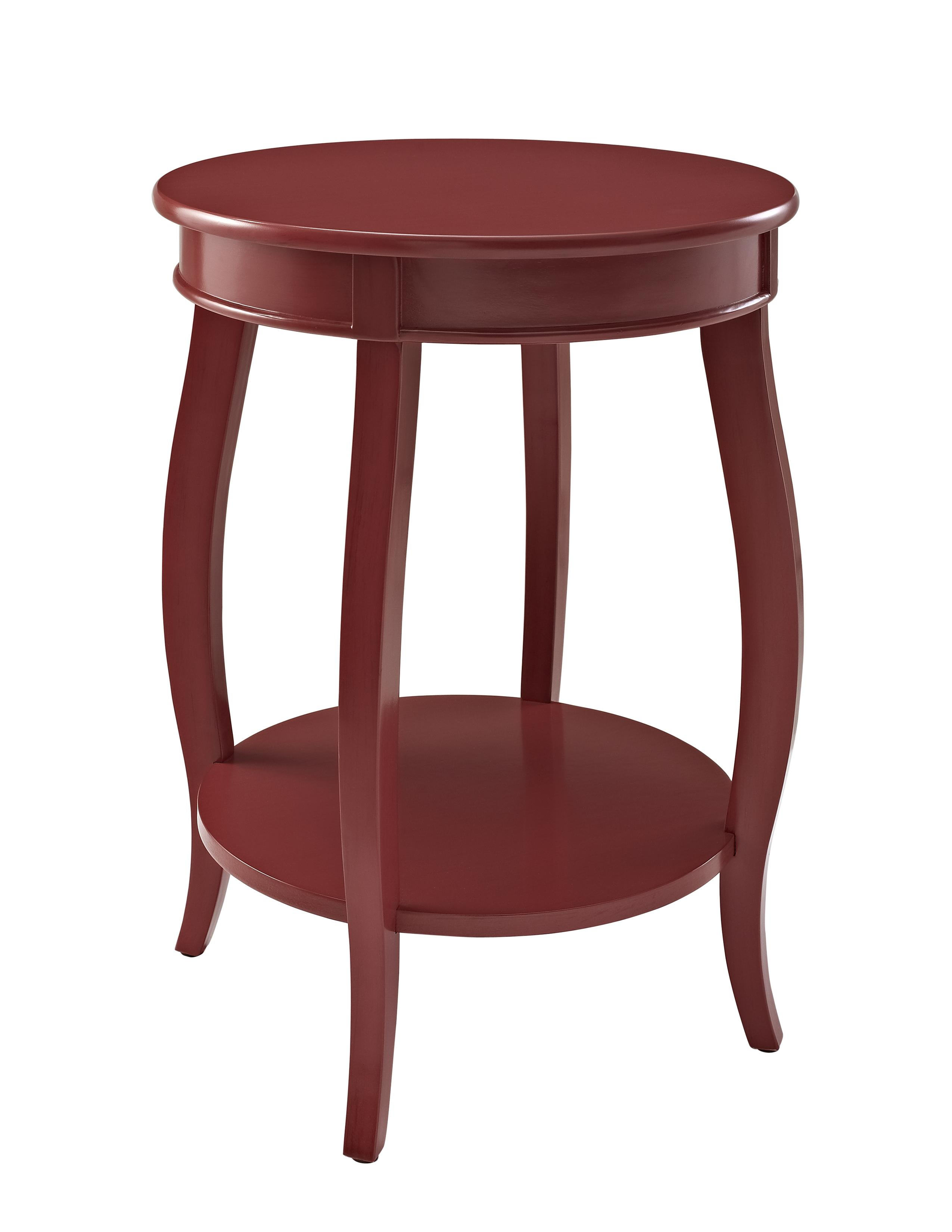 Powell Accent Tables Round Table w/ Shelf - Item Number: 471-350