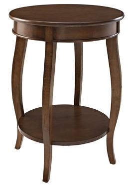 Powell Accent Tables Round Table w/ Shelf - Item Number: 713-352