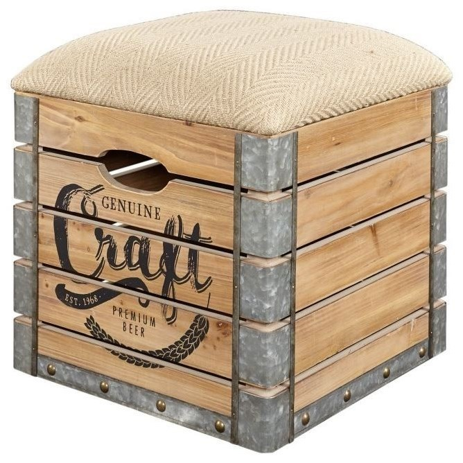 Adria Storage Crate  by Powell at A1 Furniture & Mattress