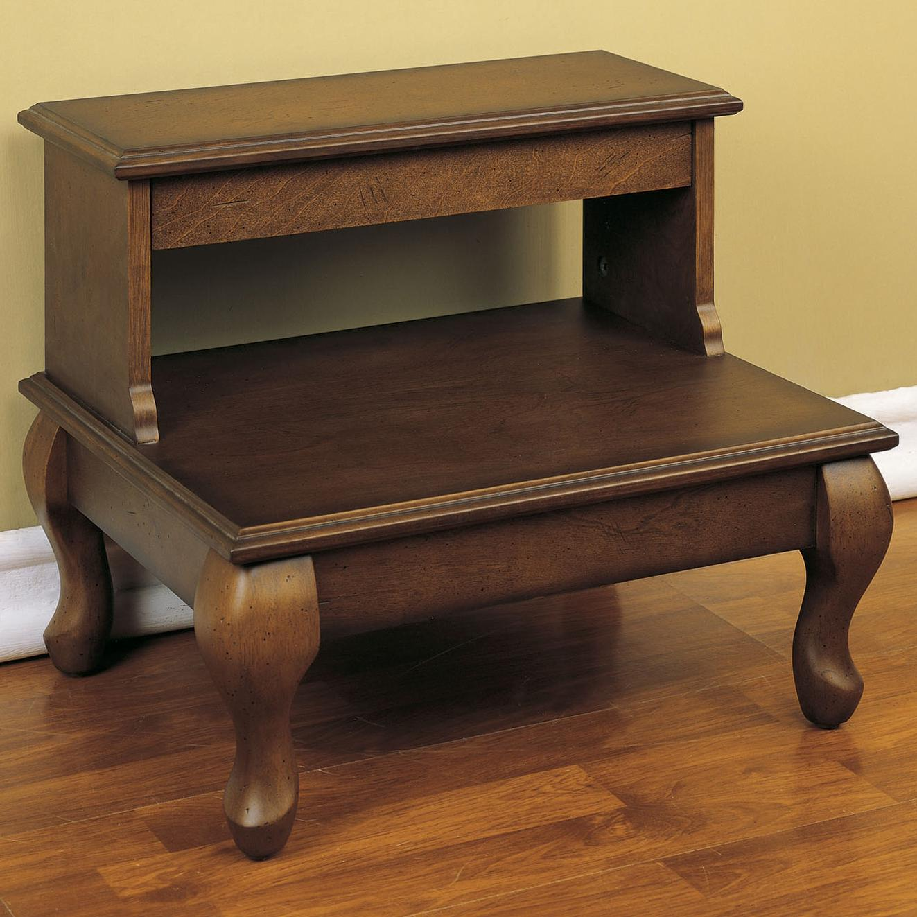 Powell Antique Cherry Bed Steps with Drawer - Item Number: 961-535