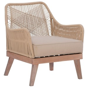Coastal Rope Chair with Upholstered Seat
