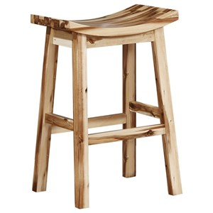 Powell Bar Stools & Tables Archer Saddle Bar Stool