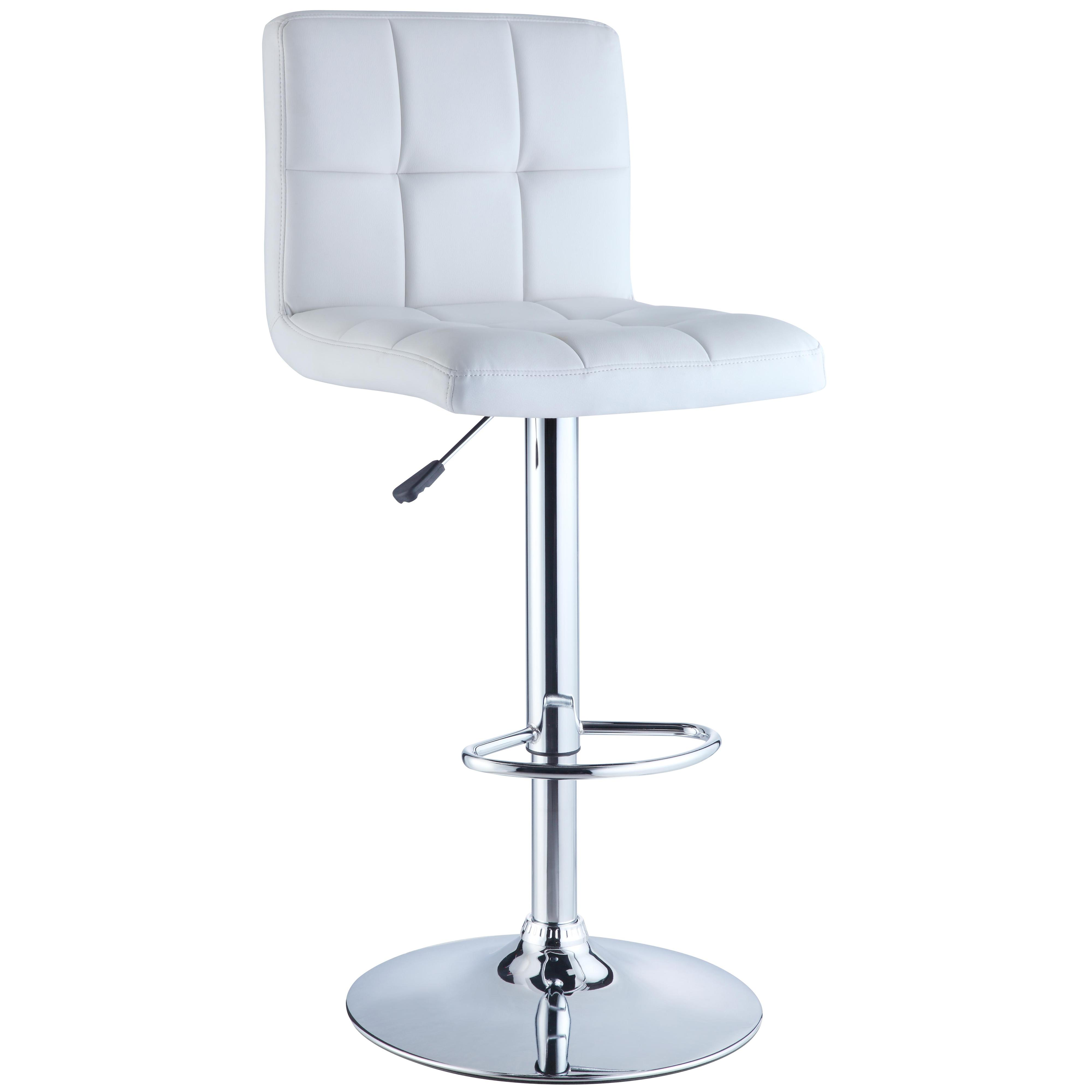 Powell Misc. Bars & Game Room White Quilted Bar Stool - Item Number: 211-851