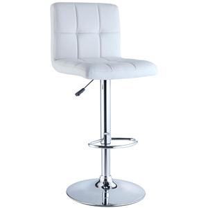 Powell Misc. Bars & Game Room White Quilted Bar Stool