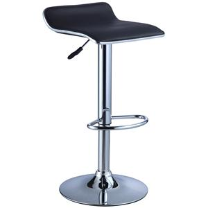 Powell Misc. Bars & Game Room Black Faux Leather Bar Stool