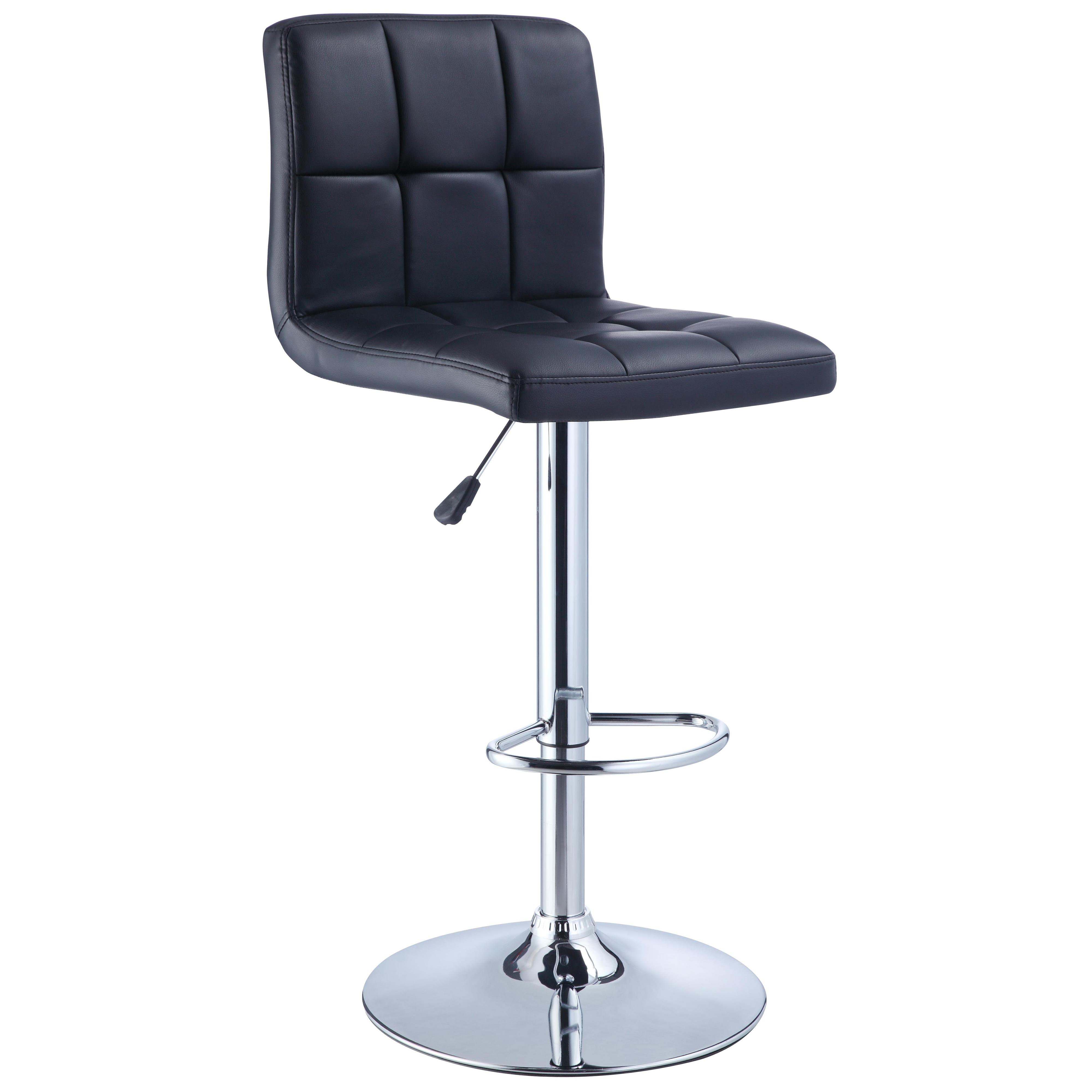 Powell Misc. Bars & Game Room Black Quilted Bar Stool - Item Number: 212-851